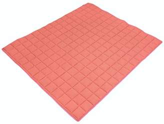 Ideenreich 2545 Baby Crawling Blanket for Crawling Dream Waffle Look Salmon 130 x 150 cm Ideal as Play Mat and Playpen Mat Orange