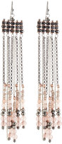Nakamol Beaded Chain Fringe Earrings in Nude Mix