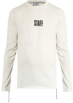 Vetements X Hanes Staff long-sleeved cotton T-shirt