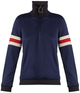 J.W.Anderson Striped-sleeve half-zip sweatshirt