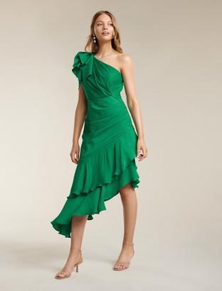 Ever New Elodie Ruffle Hem Midi Dress
