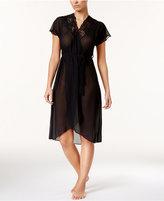 Linea Donatella Juliet Lace-Trimmed Chiffon Wrap Robe