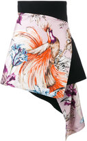 Fausto Puglisi short printed wraparound skirt