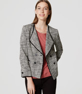 LOFT Double Breasted Tweed Jacket