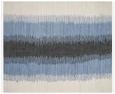 One Kings Lane Thea Flat-Weave Rug - Blue/White - 5'x8'