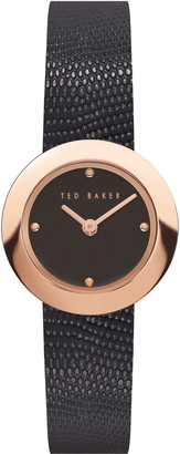 Ted Baker Women's Serena Lizard Embossed Leather Strap Watch, 24mm