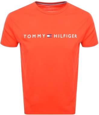 Tommy Hilfiger Lounge Flag Logo T Shirt Red