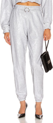Frankie B. Aliyah Bull Ring Baggy Sweatpant in Metallic Mesh | FWRD