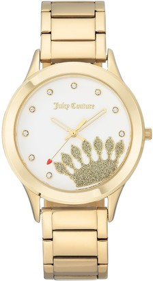 Juicy Couture Goldtone Stainless Watch w/ WhiteDial