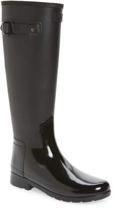 Hunter Refined Tall Matte Gloss Waterproof Rain Boot