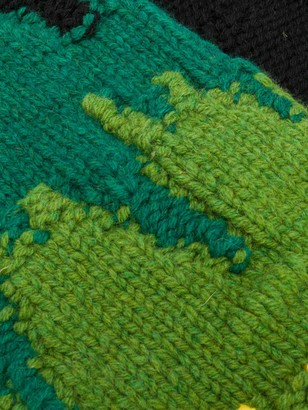 Prada Intarsia Knit Scarf