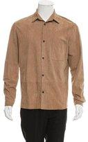 Melindagloss Melinda Gloss Suede Button-Up Shirt