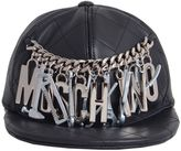 Moschino Leather Baseball Cap