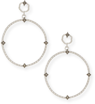 Armenta New World Diamond Crivelli Front-Facing Hoop Earrings