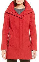Calvin Klein Zip Front Hooded Rain Jacket
