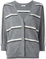 Brunello Cucinelli cashmere striped cardigan - women - Cashmere - M