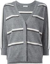 Brunello Cucinelli striped cardigan - women - Cashmere - M