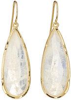 Irene Neuwirth Women's Elongated Teardrop Earrings-WHITE, GOLD, NO COLOR