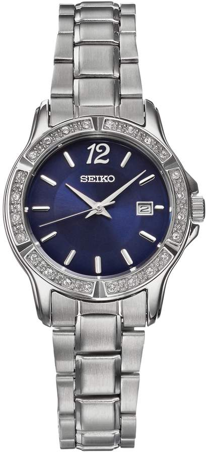 Seiko Women's Crystal Stainless Steel Watch - SUR721