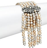 Nanette Lepore Fringed Faux Pearl Stretch Bracelet