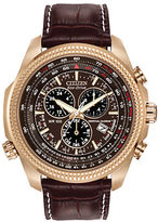 Citizen Perpetual Eco-Drive Chronograph Leather Watch