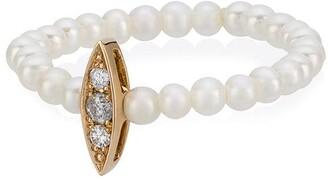 Anissa Kermiche Perle Rare mini pearl and diamond ring