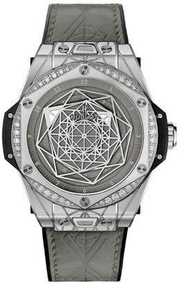 Hublot Steel and Diamond Big Bang One Click Sang Bleu Watch 39mm