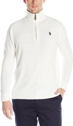 U.S. Polo Assn. Men's Solid 1/4 Zip Sweater