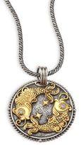 Konstantino Zodiac Diamond, 18K Gold & Sterling Silver Pisces Charm Pendant