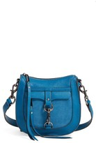 Rebecca Minkoff Dog Clip Leather & Suede Saddle Bag - Blue