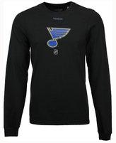 Reebok Men's St. Louis Blues Logo Reflect Long Sleeve T-Shirt