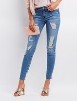 Charlotte Russe Refuge Push Up Legging Lifting Destroyed Jeans