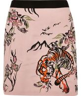 River Island Womens Pink tiger print embroidered mini skirt
