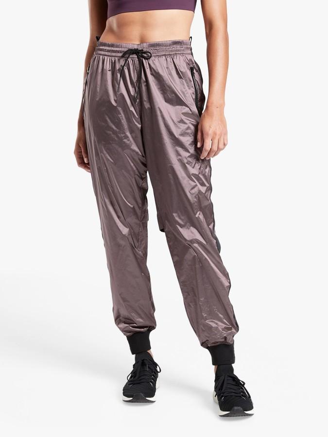 Athleta Metallic Track Trousers, Pink/Multi