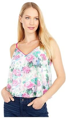 WAYF Fontane Swing Cami Top (Magenta Rose Garden) Women's Clothing