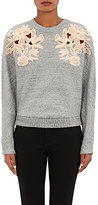 3.1 Phillip Lim WOMEN'S FLORAL EMBROIDERED SWEATSHIRT