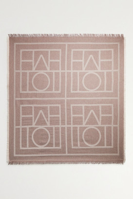 Totême Fringed Wool And Cashmere-blend Scarf - Brown
