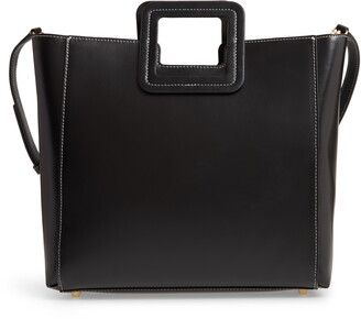 STAUD Shirley Calfskin Leather Handbag