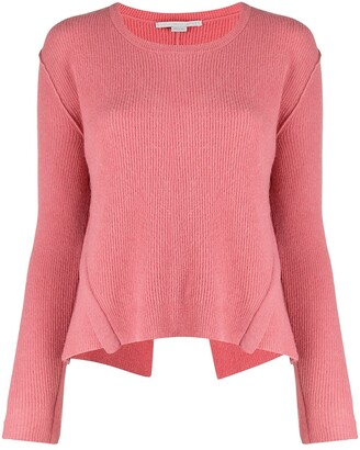 Stella McCartney Deconstructed Ribbed Crew Neck Jumper