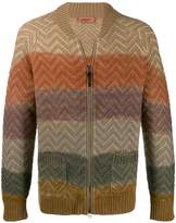 Missoni colour block zipped cardigan