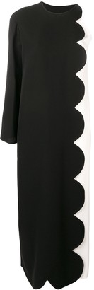 Valentino Scalloped Evening Gown