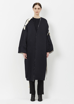 Marni deep blue satin duster coat