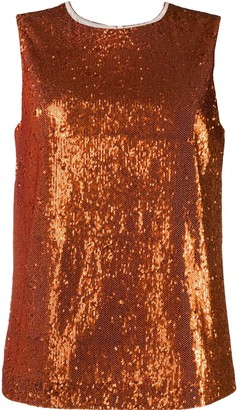 P.A.R.O.S.H. sequin embellished top