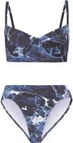 Norma Kamali Tie-dye Underwired Bikini - Midnight blue