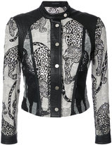 Yigal Azrouel leopard embroidery jacket - women - Lamb Skin/Polyester - 12