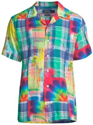 Polo Ralph Lauren Short-Sleeve Madras Tie-Dye Sport Shirt