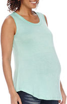 Asstd National Brand Maternity Mix Media Tank - Plus