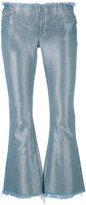 Marques Almeida Marques'almeida - metallic-sheen cropped jeans - women - Cotton/Polyester/Rayon - S