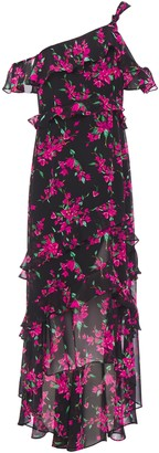 Rachel Zoe Off-the-shoulder Floral-print Chiffon Midi Dress
