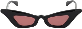 Cat Eye Y7 Cat-Eye Shiny Acetate Sunglasses